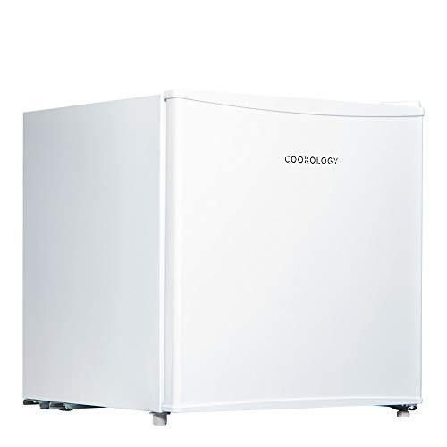 Cookology Table Top Mini Fridge A+ Rated, 46 Litre Refrigerator with Ice Box (White)
