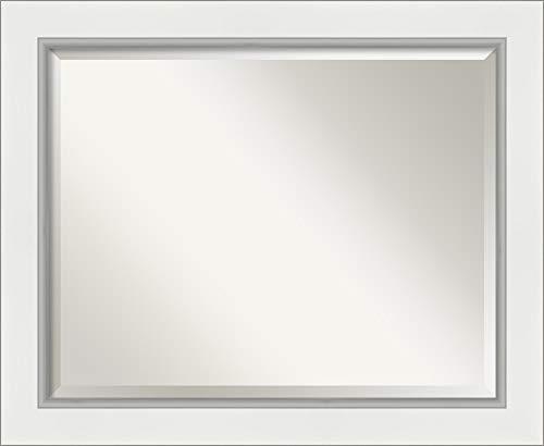 Amanti Art Framed Vanity Mirror   Bathroom Mirrors for Wall   Eva -