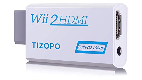 Wii to HDMI Converter,Wii to HDMI Adapter,Output Video Audio Wii to HDMI 1080P&3,5mm Audio Jack&HDMI Output Compatible with Wii, Wii U, HDTV, Supports All Wii Display Modes 720P,NTSC