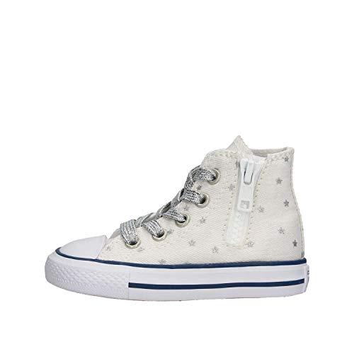 Converse CTAS Side Zip HI White/Pure Scarpa Bambino Sneakers 764046C