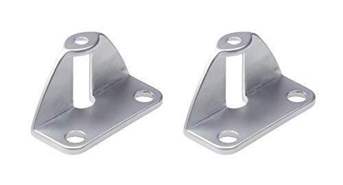 Gedotec Faltschiebetür-Befestigung Griffadapter zum Anschrauben an die Tür Innenseite   Falttüren-Griff für Türdicke 20 mm   Möbelgriff für Schiebetüren   2 Stück - Adapter für Falttüren-Griffe