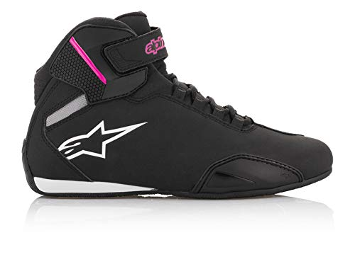 Alpinestars Women's Stella Sektor Shoes, Black/Fuchsia, 9
