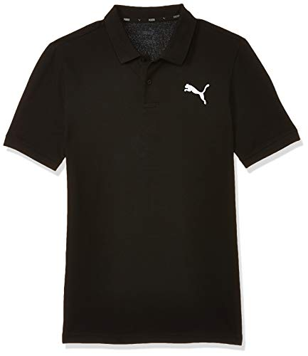 Puma Herren Essential Pique Polo_851759 Poloshirt, Schwarz (Cotton Black/21), S