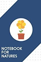 Notebook for Natures: Dotted Journal with Yellow flower in the pot   Design - Cool Gift for a friend or family who loves flora presents! | 6x9