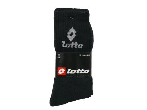 Lotto Set mit 6Paar Socken, 43 - 46, Baumwolle, Schwarz