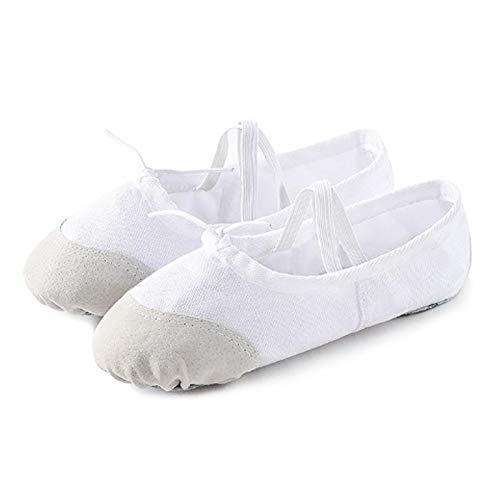 YJX - 2 pares de zapatos de ballet suaves para yoga, danza latina, para niños y adultos