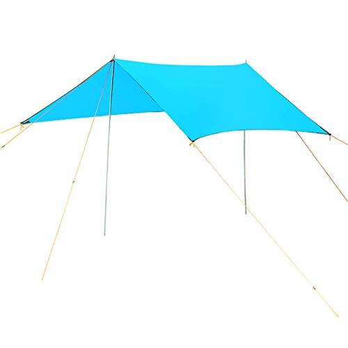 VERDELZ Sombrilla Sombrilla Protector Solar Toldo Cuadrado 96.5% Protección UV A Prueba de Agua Jardín Exterior Fiesta de Campamento con Cuerda Libre, (3 * 3 Metros)