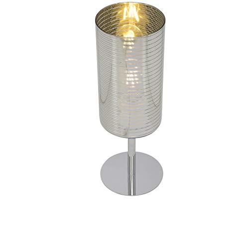 Brilliant 69747/47 tafellamp, glas/metaal, chroom/zilver/goud