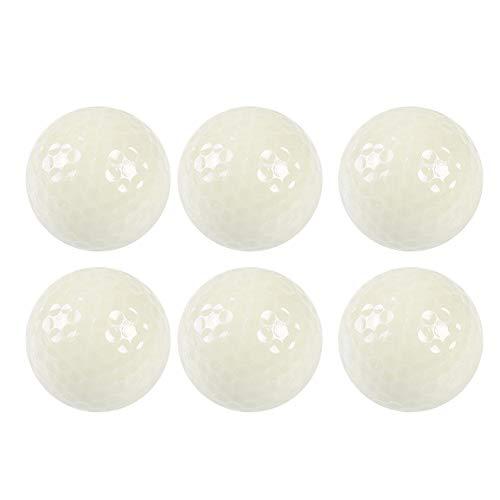 VGEBY1 Bolas de Golf de Noche, 6 Piezas de Bolas de Golf Fluorescentes Luminosas, Brillo Duradero y Brillante en la Oscuridad (no se Necesitan baterías)