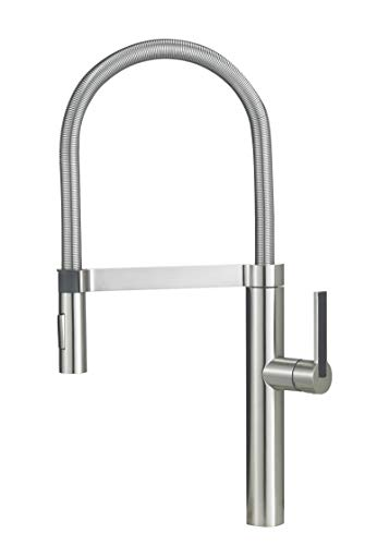 BLANCO, Satin Nickel 441332 CULINA Semi-Pro Kitchen Faucet with...