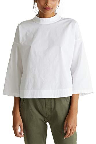 edc by ESPRIT Damen 030CC1F315 Bluse, 100/WHITE, M