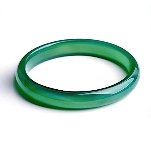 QVQV Pulsera De Jade Verde CláSico Chino Natural,Brazalete Estrecho De Chaise De áGata Verde,JoyeríA Redonda De Estilo De Moda,Regalo Madre Joyero