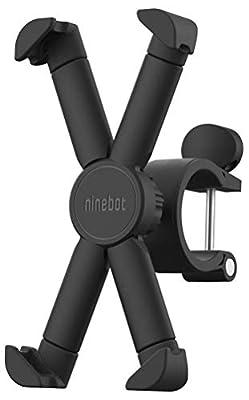 Segway Ninebot Attachable Phone Mount for MAX/ES2/ES4/E22/ES1L Kick Scooters, 360 degree Rotatable Adjustable, Black