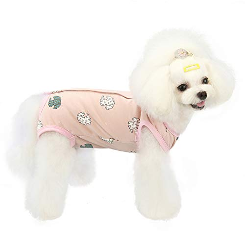Recovery Suit for Dogs After Surgery, Alternative E-Collars Bandages for Small Medium Large Dog Pink