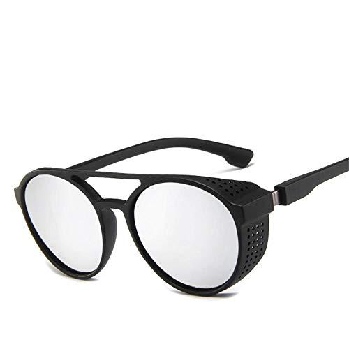 Gafas De Sol Polarizadas Vintage Round Steampunk Sunglasses Men Classic Goggles Car Driving Sun Glasses Oculos Masculino Male Uv400 Silver
