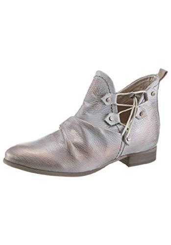 dkode Damen Schuhe Sommer Stiefelette grau Silber Leder (35)