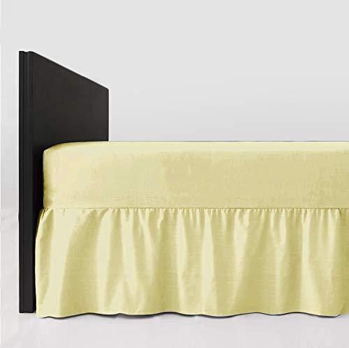 mTextile Easy Care - Mantovana con angoli elasticizzati per letto matrimoniale, in policotone extra profondo, 40 cm, colore: panna
