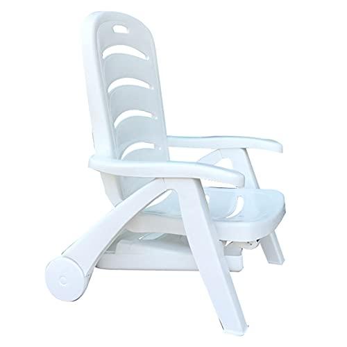 LLMY liegestuhl Klappliege Aus Kunststoff, Sonnenliege im Freien, Sonnenbank, 5 Gänge Einstellbar, mit Riemenscheibe, Belasten Sie 180kg