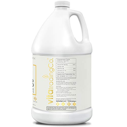 VitaTradingCo C8 100% Pure MCT Oil 128oz | Keto, Paleo & Vegan Diet Friendly | Clean Energy | Healthy Fat | BPA-Free | Sustainably Sourced | 3X Distilled | Non-GMO & Gluten-Free | 256 Serving 6