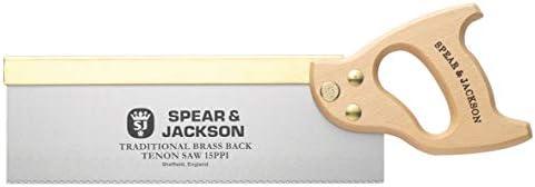 "SPEAR & JACKSON Traditional Brass Back Tenon WOODSAW- FINE Finish 300MM SJ-9550B, Brown/Silver, 12"" x 15"""