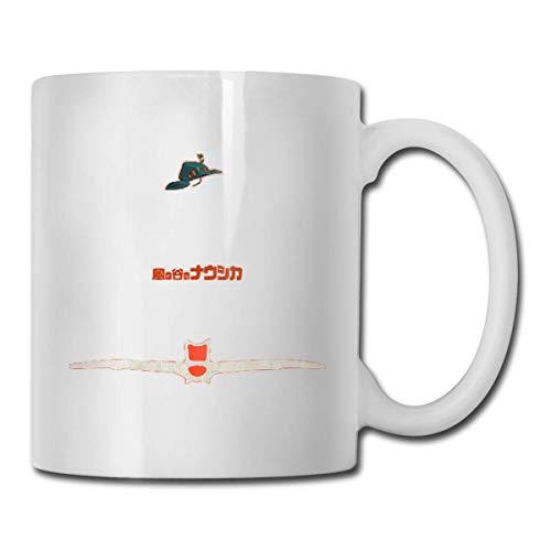 N\A Ghibli Minimalist 'Nausica & auml; of The Valley of The Wind' Taza de té de cerámica para el hogar Taza de café Blanca para Oficina, 11 oz