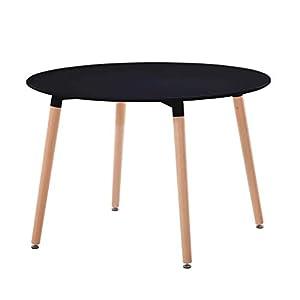 ✅Dimensioni: cm Ø 120 x 75 h ✅Piano in ABS colore nero ✅Gambe in legno di faggio ✅Dal design mozzafiato ✅I materiali di alta qualità lo rendono semplice da pulire