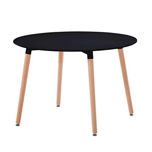Milani Home s.r.l.s. Tavolo da Interno di Design scandinavo in plastica e Legno ø 120