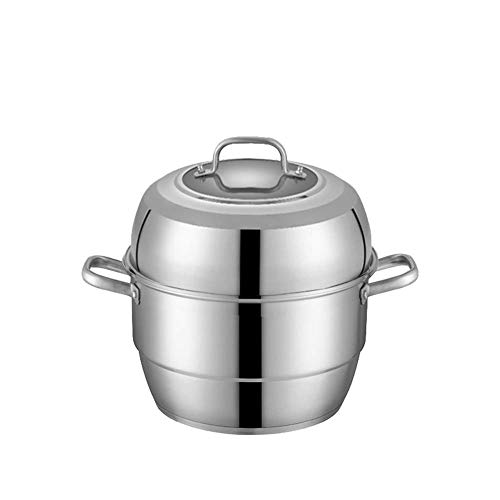 Cuiseur vapeur à 3 couches en acier inoxydable 28 cm