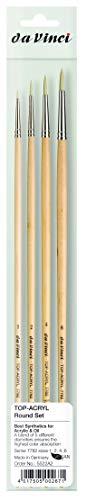 da Vinci Brushes 7782 Round (Sizes 1,2,4,6) Artist Brush Set, Black 4