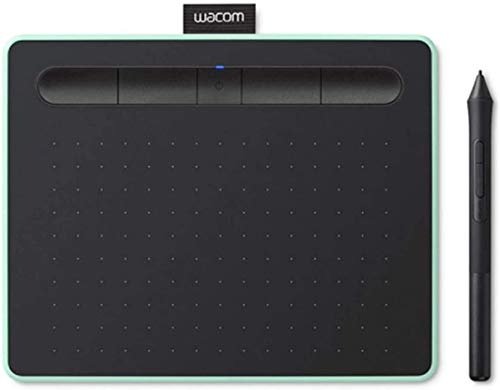 Wacom Intuos M - Tableta Gráfica Bluetooth para pintar, dibujar y editar photos con 3 softwares creativos incluidos para descargar, Windows & Mac, óptima para oficina en casa y e-learning, pistacho