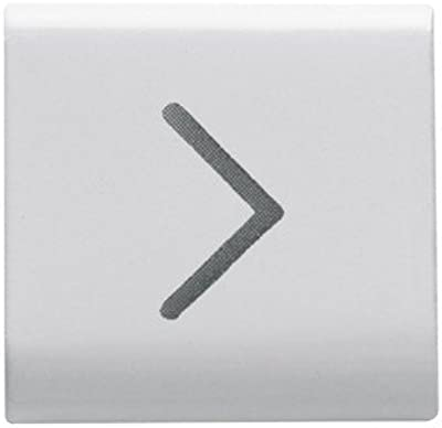 Gewiss chorus - Tecla intercambiable/ador -flecha horizontal -blanco