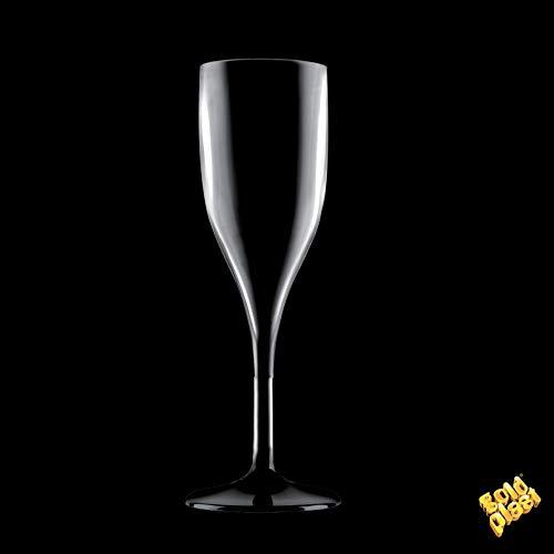 6 flûtes à champagne incassable SAN noir de 150 cc …