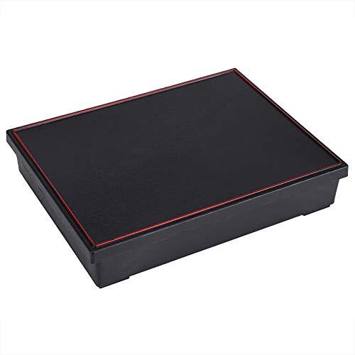 MAGT Tragbare Bento Lunch Box - Japanischer Stil Bento Food Container Lunchboxen, Holz Aufbewahrungsbox, Ideal Für Office-Picknick (rot + Schwarz) (Farbe : Black)