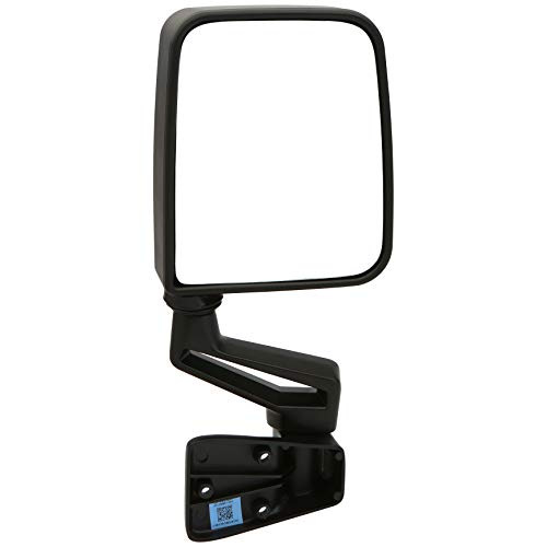 Dependable Direct Right Passenger Side Black Non-Heated Folding Door Mirror for Jeep Wrangler (1994 1995 1996 1997 1998 1999 2000 2001 2002) - CH1321296