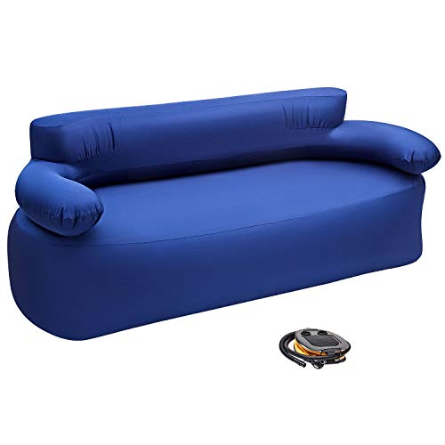 KingCamp Folding Air Sofa Chair Support Up to 660 lbs-Waterproof, Inflatable and Portable Sofa for Garden Outdoor Travel Camping Picnic or Indoor Furniture