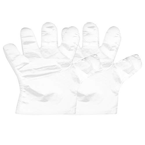 Hemoton 500 Stks Wegwerphandschoenen Transparante Pe Handschoenen Medische Ziekenhuis Chirurgische Handschoenen Beschermende Handschoenen Voor Ziekenhuis Lab Schoonheid Haarkleur