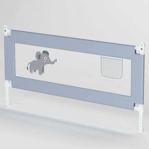 Poręcz Bezpieczeństwa Dla Niemowląt, Poręcz łóżka Dla Małych Dzieci, Barierka Ochronna Dla Niemowląt Z Oddychającą Tkaniną Do łóżka O Długości 1,2 M / 1,5 M / 1,8 M / 2 M / 2,2 M,Grey-B-1.5m