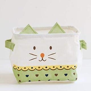 MJY Panier à linge, belle bande dessinée chat panier à linge bureau boîte de rangement de bureau enfants organisateur cont...