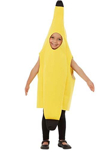Funidelia | Disfraz de plátano para niño y niña Talla 3-6 años ▶ Fruta, Comida - Color: Amarillo - Divertidos Disfraces y complementos para Carnaval y Halloween