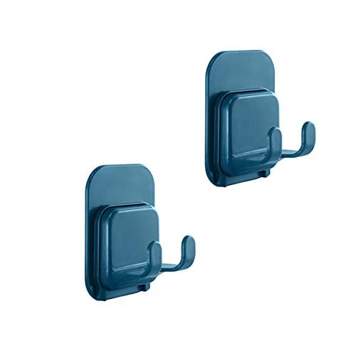 Rustl 2 ganchos adhesivos para uso general, ganchos de pared resistentes para colgar, llaves, enchufes, utensilios de cocina, toallas, parte trasera de la puerta, etc