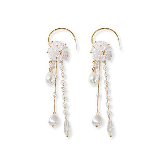 NA Drop Earrings Women Teardrop-Shaped Imitation Pearl Pendant Long Tassel Earrings Women Jewellery