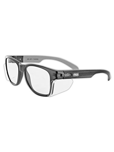 MAGID Y50BKAFC Iconic Y50 Design Series Safety Glasses with Side Shields | ANSI Z87+ Performance,...