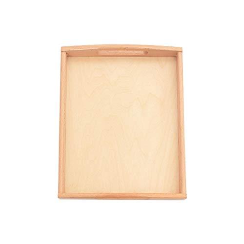 DASNTERED Vassoio da portata in legno quadrato con manici, per materiali Montessori, artigianato, per pittura, studenti, decorazioni, scaffali, attività