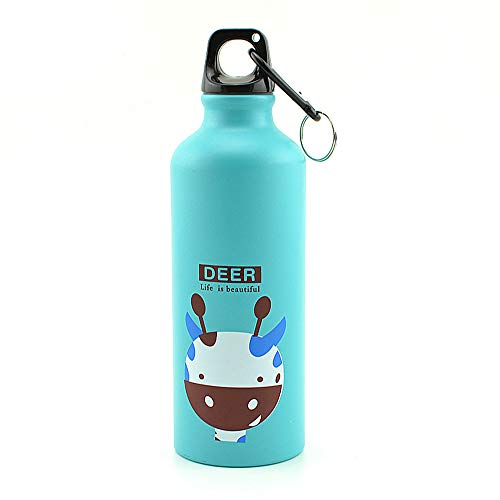 HongShan 500ml Best Sports Water Bottle Portable Outdoor Sport Kettle Cycling Camping Hiking Bicycle Running Aluminum Alloy School Water Bottle Kids Eco-Friendly Large Reusable Bottles