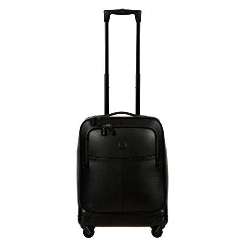 Bric's Varese Maleta de cabina 4 ruedas piel 55 cm Black