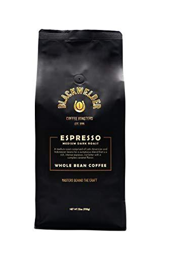 Blackwelder Coffee, 100% Arabica Espresso Whole Bean Coffee, Fresh Roasted Coffee Beans 32oz (2lb) Bag | Rich Taste, Perfect Crema Finish