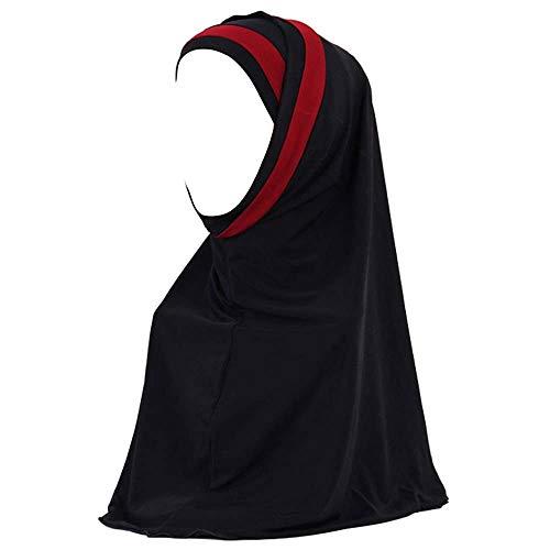 URIBAKY_Kopftücher Hijab Maxi Schal Groß Übergröße Einfarbig Baumwolle Schlauch islam schal Bandana Halstuch Damen