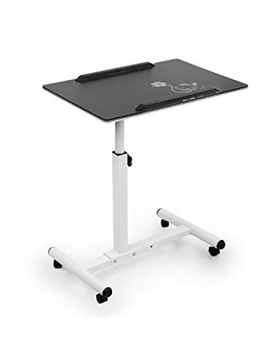 XHCP Lit Paresseux pour Ordinateur Portable Table Pliante Table de Chevet pivotante Mobile pivotante Mobile en Noir et Blanc (Couleur: Noir, Taille: L