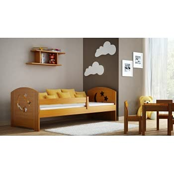 Children's Beds Home - Cama individual - Lily For Kids Niño Niño Junior - 180x80, Alder, Sí, 11 cm Espuma / Coco/Alforfón