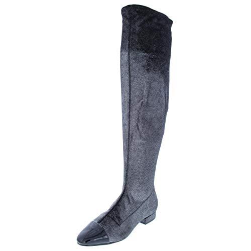 Ivanka Trump Womens Alie 2 Metallic Over-The-Knee Boots Silver 5 Medium (B,M)